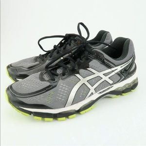 Asics Kayano 22 Grey Running Shoes 10 EE Wide